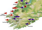 Golf Map Of Ireland.Southwest Ireland Golf Course Directory By Tailor Made Golf Tours